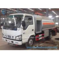 Quality ISUZU 4x2 Fuel Oil Tank Trailer Carbon Steel 4000 L Refuel Tanker Truck for sale