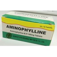 Wholesale Western Medicine Aminophylline B.P. 100mg Tablets ( bronchial smooth muscle,relieves bronchospasm) from china suppliers