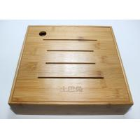 Bamboo Display Box, Wooden Tea Storage Box With 4 Compartments And Lids