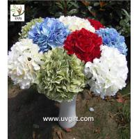Wholesale UVG FHY20 wedding accessory silk hydrangea flowers artificial for bridal bouquets use from china suppliers