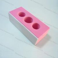 Quality OPI Pink Three Holes Polishing Nail Block Sanding Block File Nail Art Tools And Equipment for sale
