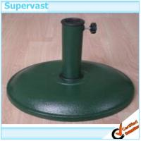 Wholesale Dark Green Round Patio Umbrella Bases Cement Beach Umbrella Stand 15KG from china suppliers