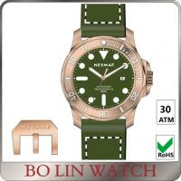 Wholesale Great Brushed Diving Bronze Mens Watch Diamond - Cut Luminous Hands from china suppliers