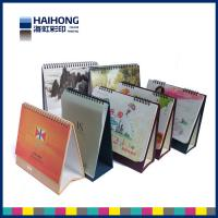 Wholesale Elegant spiral bound Desk Calendar Printing with back stands / time calendar from china suppliers