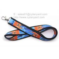 Dye sublimation neoprene neck strap with overlock