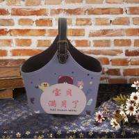China faux leather gift basket for any occasion faux leather magazine tote newspaper holder on sale