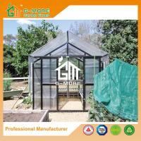 Wholesale 377X253X250CM Black Color Imperial Series Double Door Aluminum Greenhouse from china suppliers