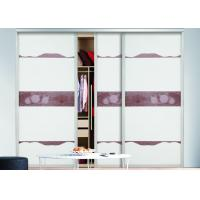 Wholesale White Glass Sliding Door Wardrobes Aluminium Frame Modern Bedroom Design from china suppliers