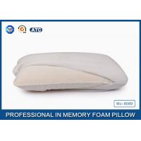 Quality Molded Traditional Memory Foam Back Pillow Covered Bamboo Fabric With Aloe Vera for sale