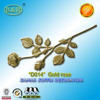Wholesale Zamak Rose Metal Coffin Fitting D014 Gold Silver Or Bronze Zamak Material Zinc Alloy 39*18cm from china suppliers