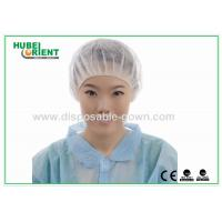 Buy cheap Printed PP Bouffant Disposable Head Cap Non woven Round light weight from wholesalers