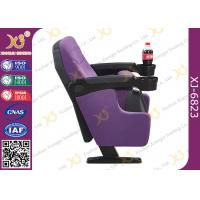 Quality Cup Holder Options Available Low Backrest Commercial Public Cinema Room Chairs for sale