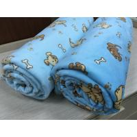 Wholesale Double Sided Kids Textiles Knit Throw Blanket For Children Doggy Printed from china suppliers