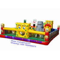 Wholesale Spongebob Inflatable Fun City Bouncy Castle Playground Environmental Protection from china suppliers