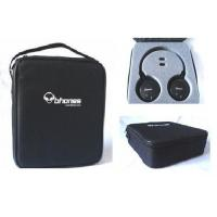 Wholesale Black Earphone Carrying Case 600Denier Padded Zipper With Foam from china suppliers