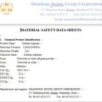 Wholesale Sodium Alginate MSDS from china suppliers