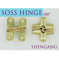 Buy cheap Satin Brass Soss Stainless Steel Concealed Hinges , Wings measure 3/8