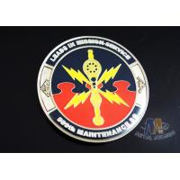 Wholesale 2D Army Challenge Coins Souvenir Gift , Round Military Commemorative Coins from china suppliers