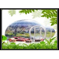 Wholesale Inflatable Bubble Tent Outdoor With 2 Tunnels / Inflatable Bubble Lodge Tent from china suppliers