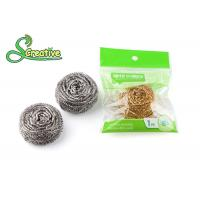 Spiral Bronze Wire Brass Scouring Pads , Dish Cleaning Kitchen Metal Scrubber