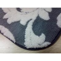 Wholesale Jacquard gray microfiber bath mat 40*60 microfiber core foam bathroom anti skid rubber from china suppliers