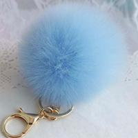 Buy cheap Hot sale pom pom custom fur ball keychain for handbag bag decoration from wholesalers