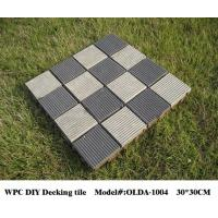Wholesale DIY WPC composite decking tile reviews 30cm*30cm (OLDA-1004) from china suppliers