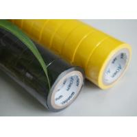 Wholesale High Strength Yellow / Black PVC Electrical Tape Flame Retardant 0.13MM Thickness from china suppliers