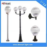 Wholesale 12LED Solar Garden Lawn Lights Pillar lamp with 1m or 2m pole 5Days working time with our own Smart control design from china suppliers
