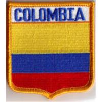 Wholesale Colombia South America Flag Embroidered Patch Shield from china suppliers