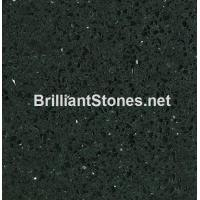 Wholesale Artificial Quartz Stone Crystal Black Model 305, Stain Resistance, High Hardness from china suppliers
