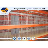 Wholesale Double Deep Durable Push Back Pallet Racking Systems , Steel Warehouse Pallet Shelves Heavy Duty from china suppliers