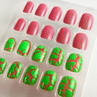 Wholesale Beautiful Two Color Cracking Nails Art For Nail Beauty , Fake Nail Tips from china suppliers