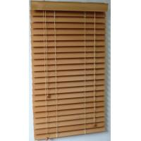 Wholesale 50mm 100% basswood venetian blinds for windows with steel high headrail and wooden bottomr from china suppliers