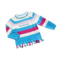 Buy cheap Colorful Stripe Round Neck knitted baby clothing, Children Chunky Knit Sweater With Cotton from wholesalers