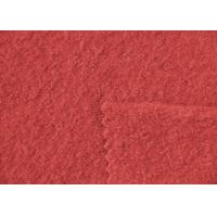 Quality Plain Coloured Wine Red Boiled Wool Fabric Australia 148CM Width for sale