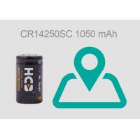 Buy cheap 1050 mAh 1/2AA Non-Rechargeable 1mA Lithium Manganese Dioxide Batteries for GPS from wholesalers