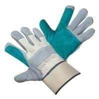 Wholesale L Rubberized Cuff, Half Lined, Cow Split Leather Work Gloves For Refuse Collection from china suppliers