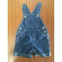 Wholesale 100 Cotton Fabirc Little Boy Kids Overall Jeans Shorts Dark Blue Color Fade Proof from china suppliers