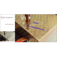 Quality 54'PVC Table Cloth --RNPT Crystal lace table cloth ---fancy home decoration table cover for sale