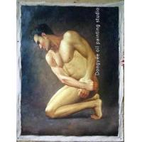 Quality ORIGINAL OIL PAINTING Handsome Male Nude Series for sale
