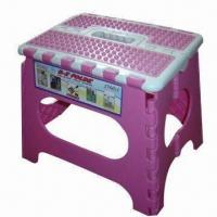 Wholesale Plastic folding stool, easy and safety to take or use from china suppliers