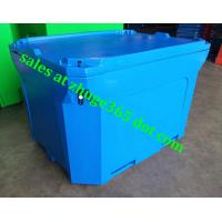 Wholesale Rotomolded 1000Liter Blue Insulated Fish Container Seafood Processing Insulated Container from china suppliers
