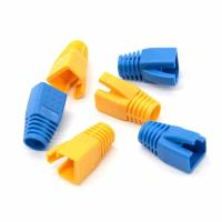 Wholesale RoHS PUR Cat7 Cable Boots Cat6A Shielded Boots OD 7-8.5MM Colorful Sheath Shielded Boots from china suppliers