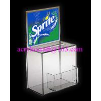 Wholesale China Manufacture Custom Donation Box With Poster And Card Holder from china suppliers