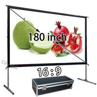 "Wholesale Quick Install White Projection Screen 180"" , Home Theatre Projection Screens Fast Folding from china suppliers"
