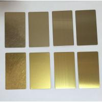 Wholesale Stainless steel 304 in PVD bronze HL for lift cladding  Sheet Size : 1219mmX3000mmX1.5mm from china suppliers