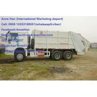 Wholesale Auto HOWO 16 Cbm 10 Wheels Garbage Compactor Truck With Rear Cover / Italy Pto from china suppliers