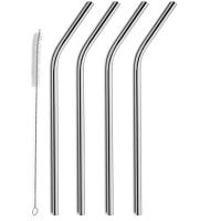 Wholesale XBR 10.5-Inch Stainless Steel Straws with Free Cleaning Brush for 20oz and 30oz Tumblers, Set of 4 from china suppliers