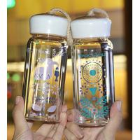 Quality Fashionable Water Bottles Reusable Glass Drinking Bottles With Lids LW-S303 for sale